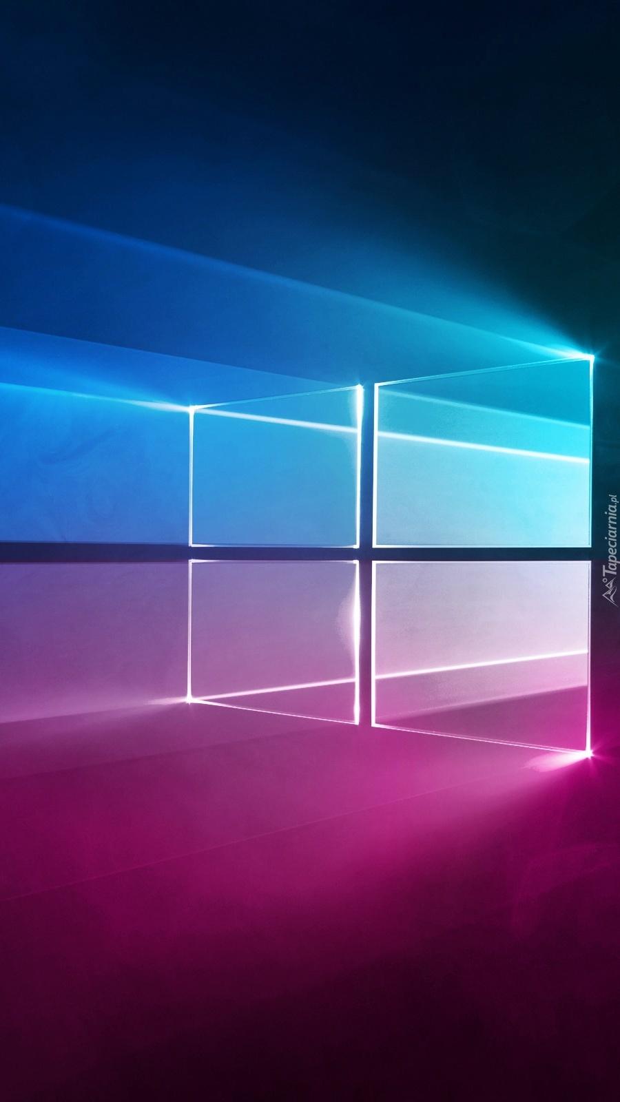 Różowo-niebieskie logo Windows 10