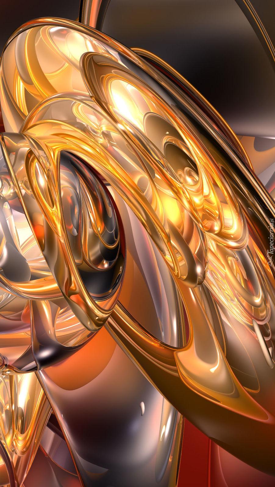 Rozświetlona abstrakcja w grafice 3D
