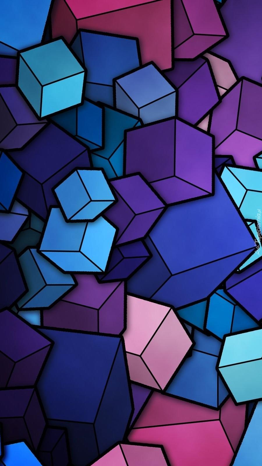 Rozsypane kolorowe kostki