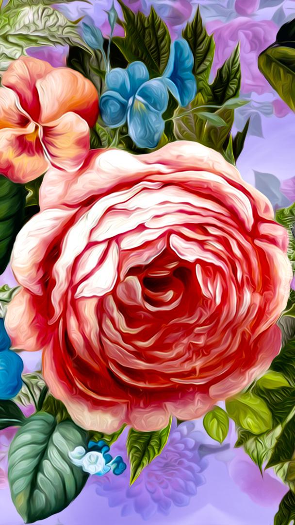 Rozwinięty kwiat w grafice