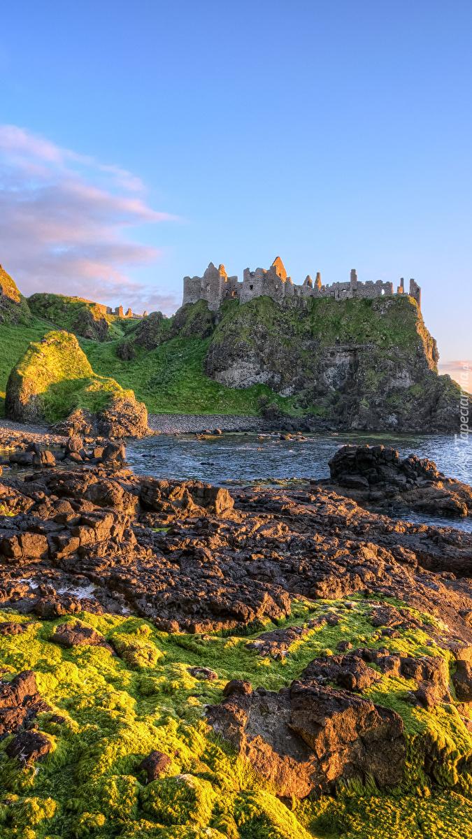 Ruiny zamku Dunluce w Irlandii