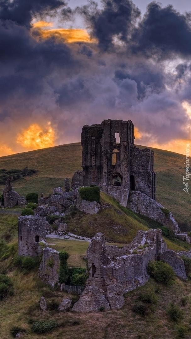 Ruiny zamku w Corfe Castle