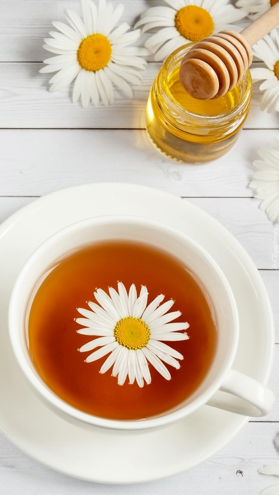 Rumiankowa herbata w filiżance