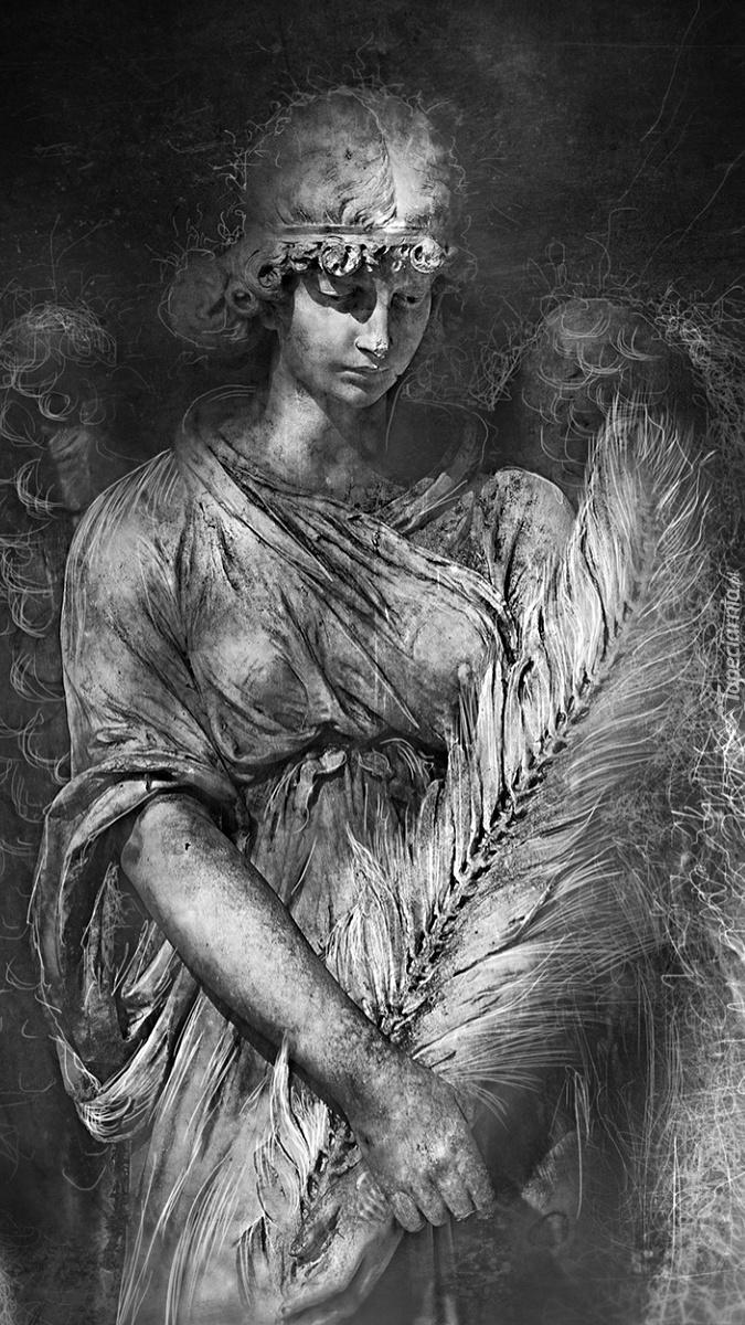 Rysunek smutnego anioła