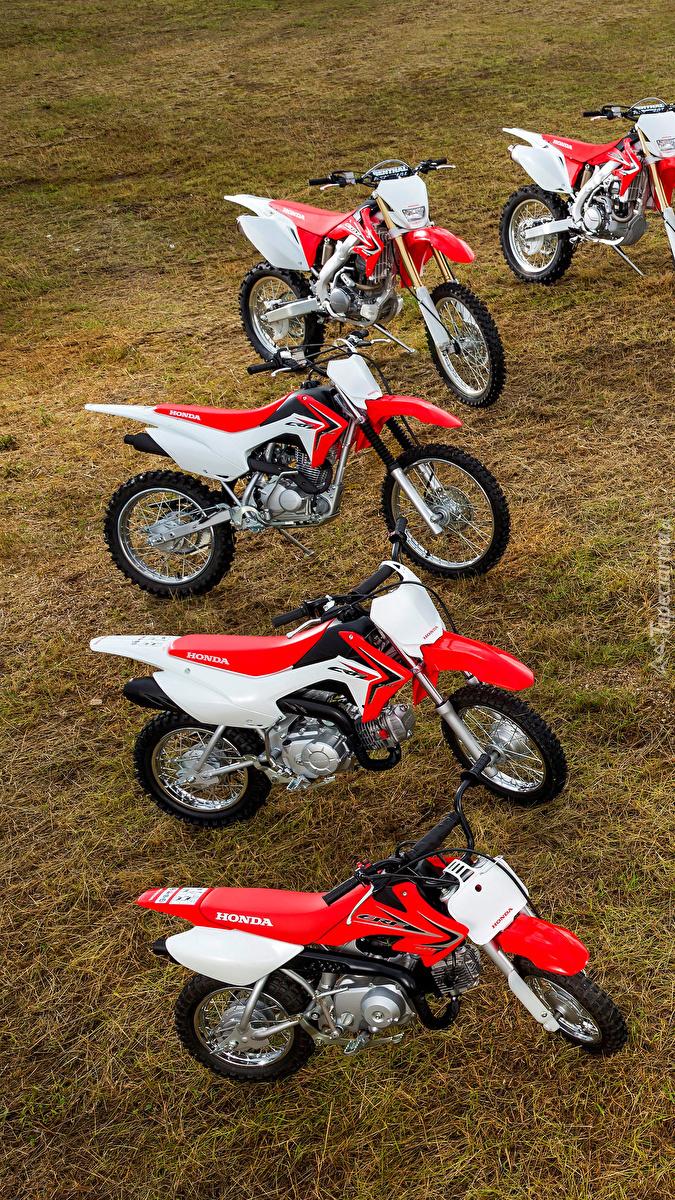 Rząd motocykli Honda CRF