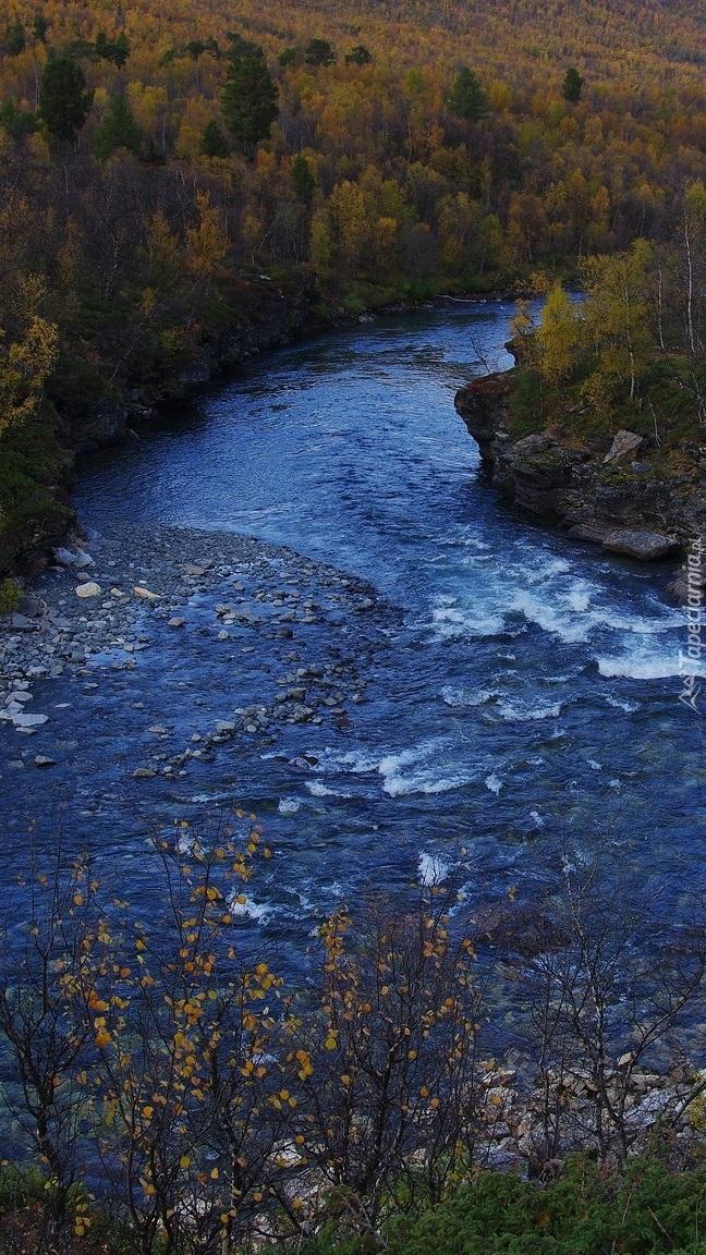 Rzeka Abiskojokk w Szwecji