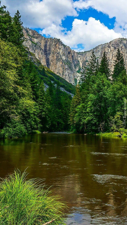 Rzeka Merced w Górach Skalistych
