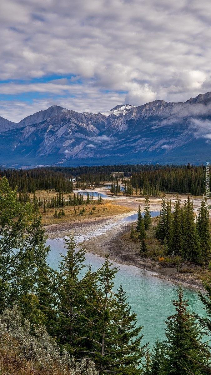 Rzeka Mietle w Parku Narodowym Jasper