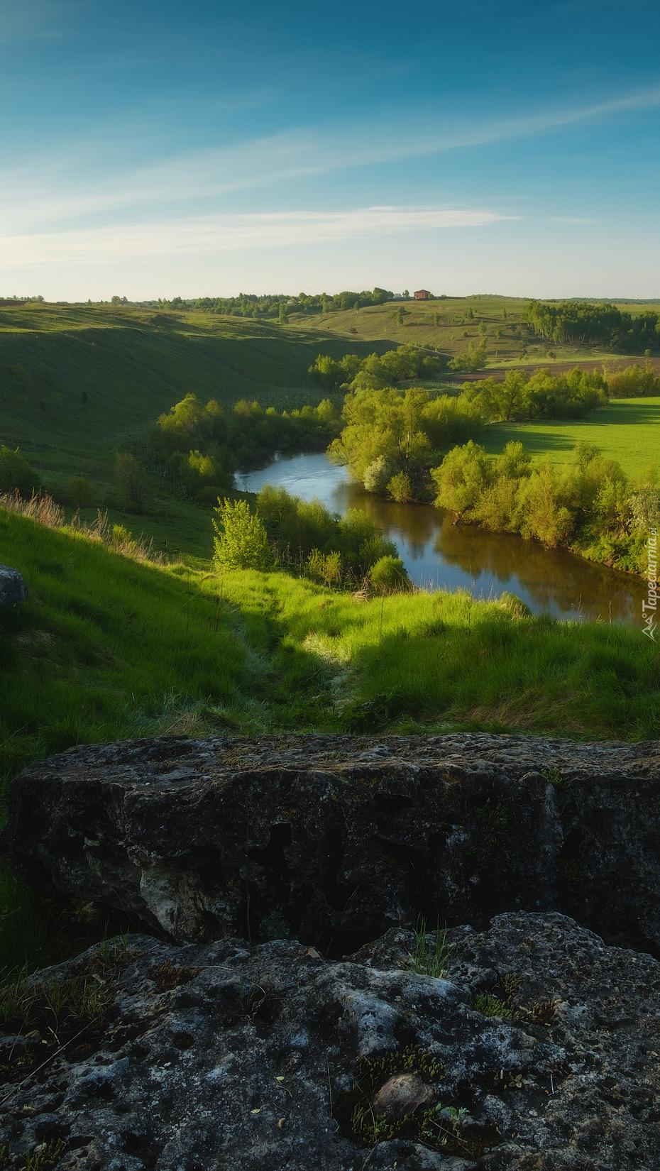 Rzeka Osyotr wśród zieleni