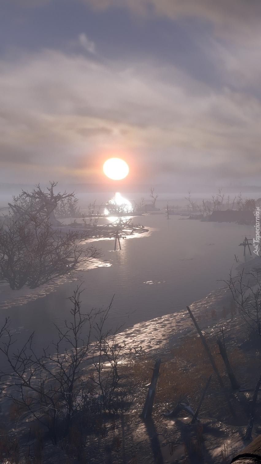 Rzeka w blasku słońca