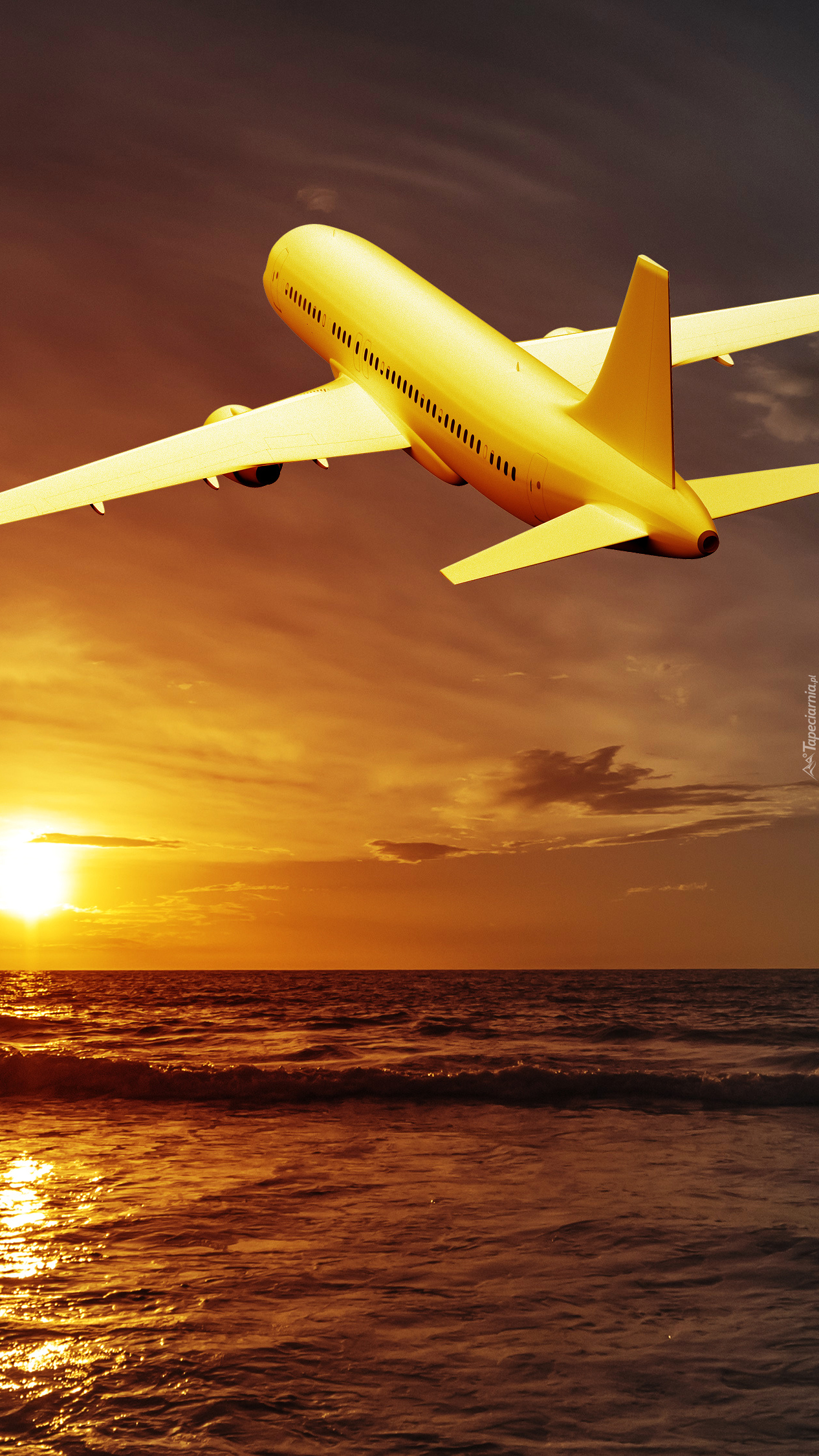 Samolot nad morzem