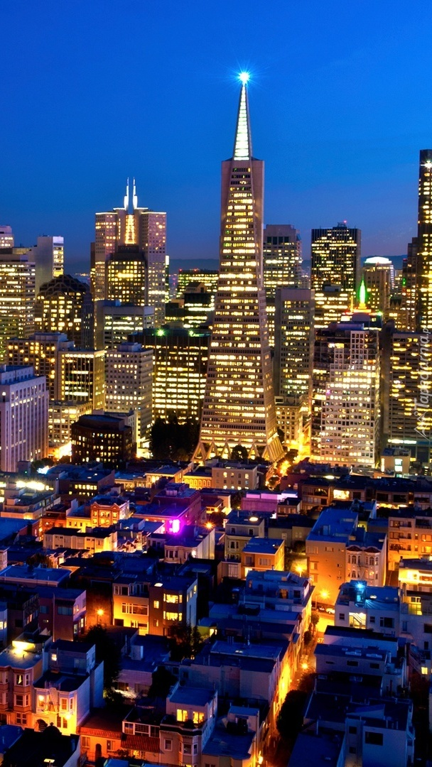 San Francisco nocą