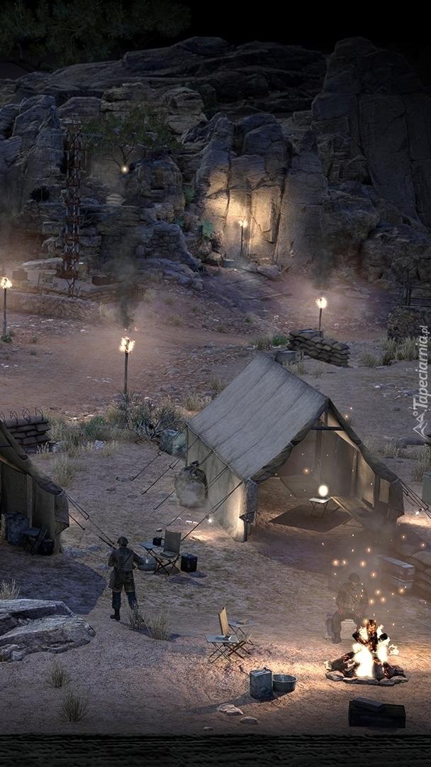 Scena z gry Sniper Elite 3 nocą