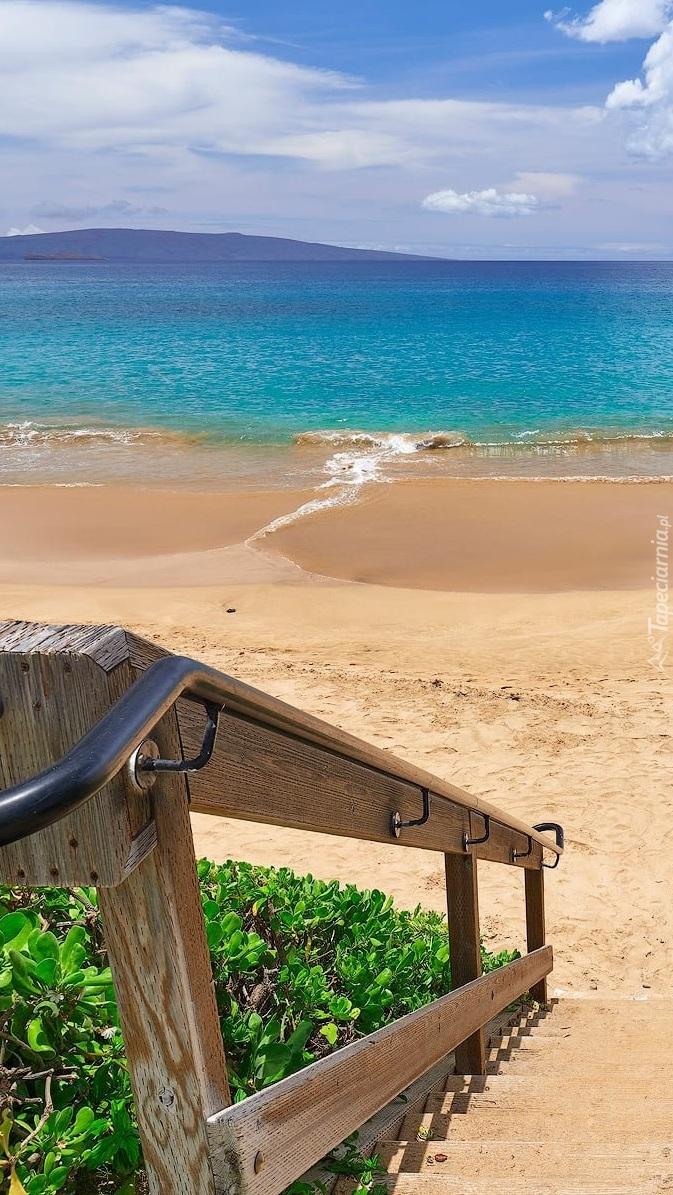 Schody na plażę