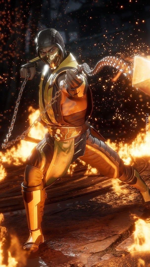 Scorpion z gry Mortal Kombat 11