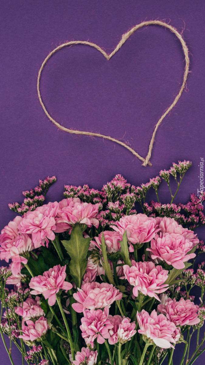 Serce i kwiaty chryzantem