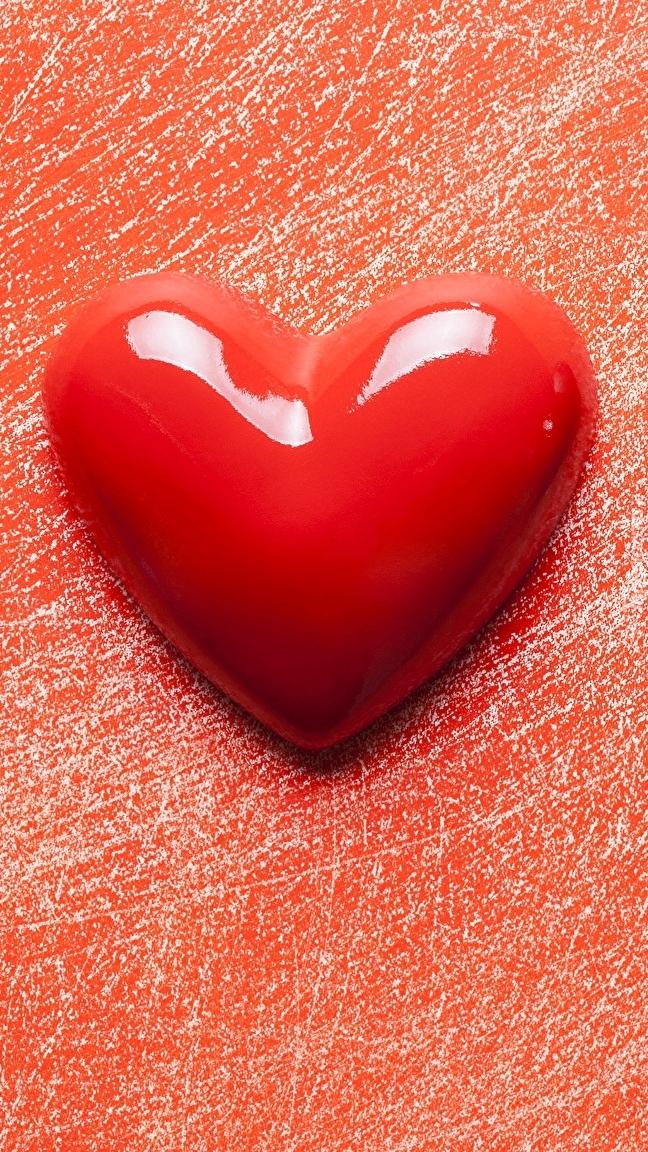 Serce na czerwonym tle
