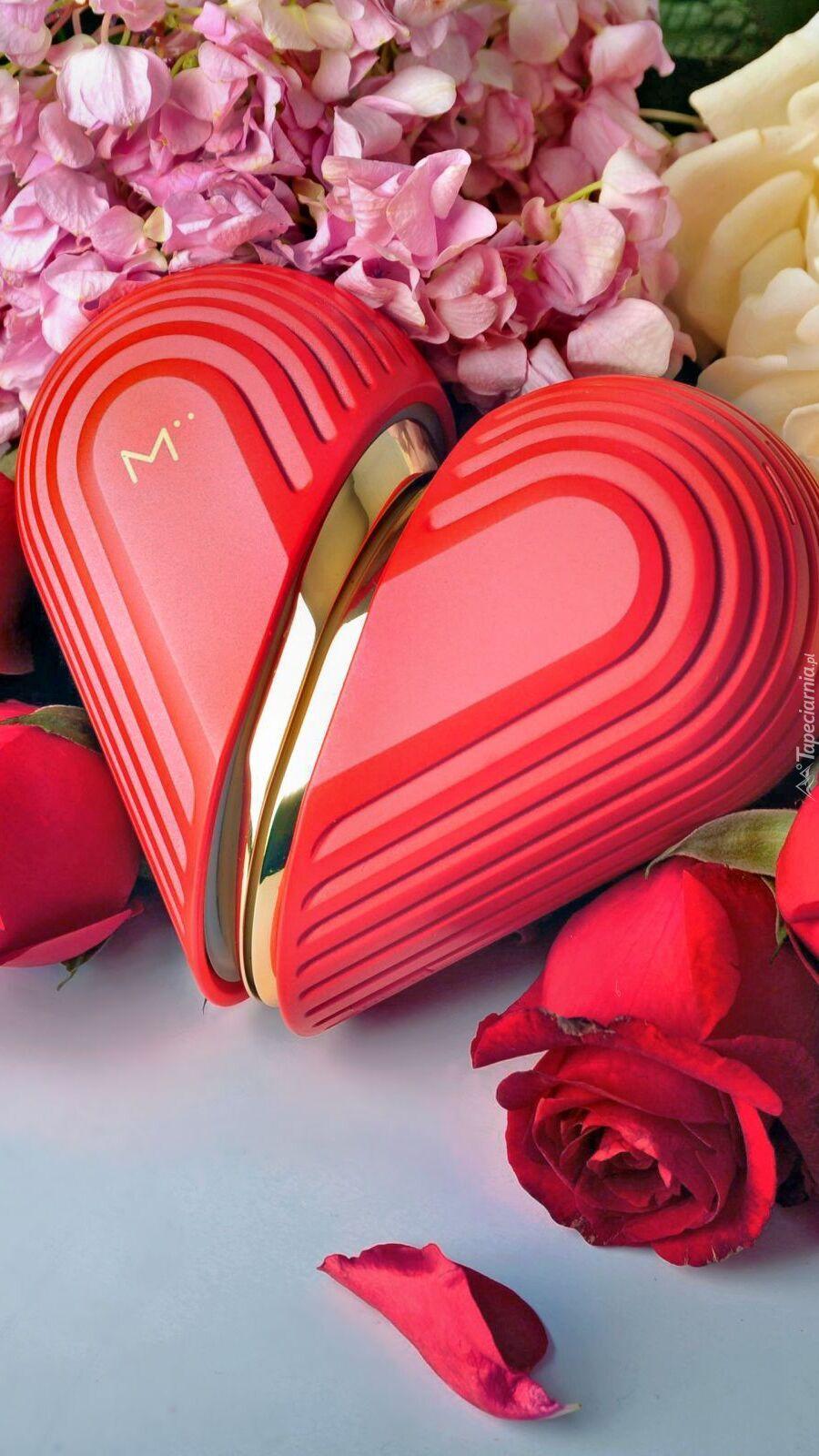 Serce na kwiatach