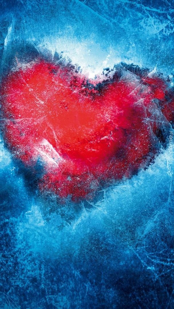 Serce w lodzie
