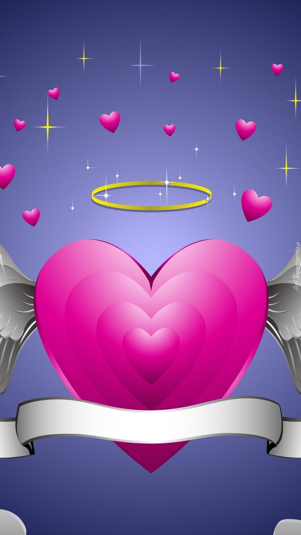 Serce z aureolą w grafice