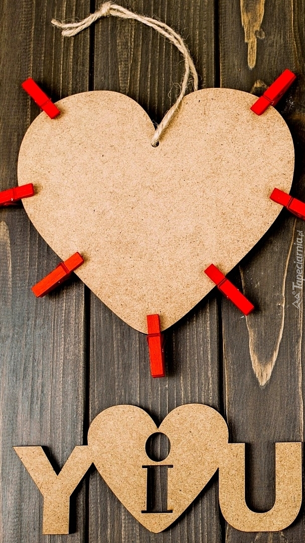 Serce z klamerkami