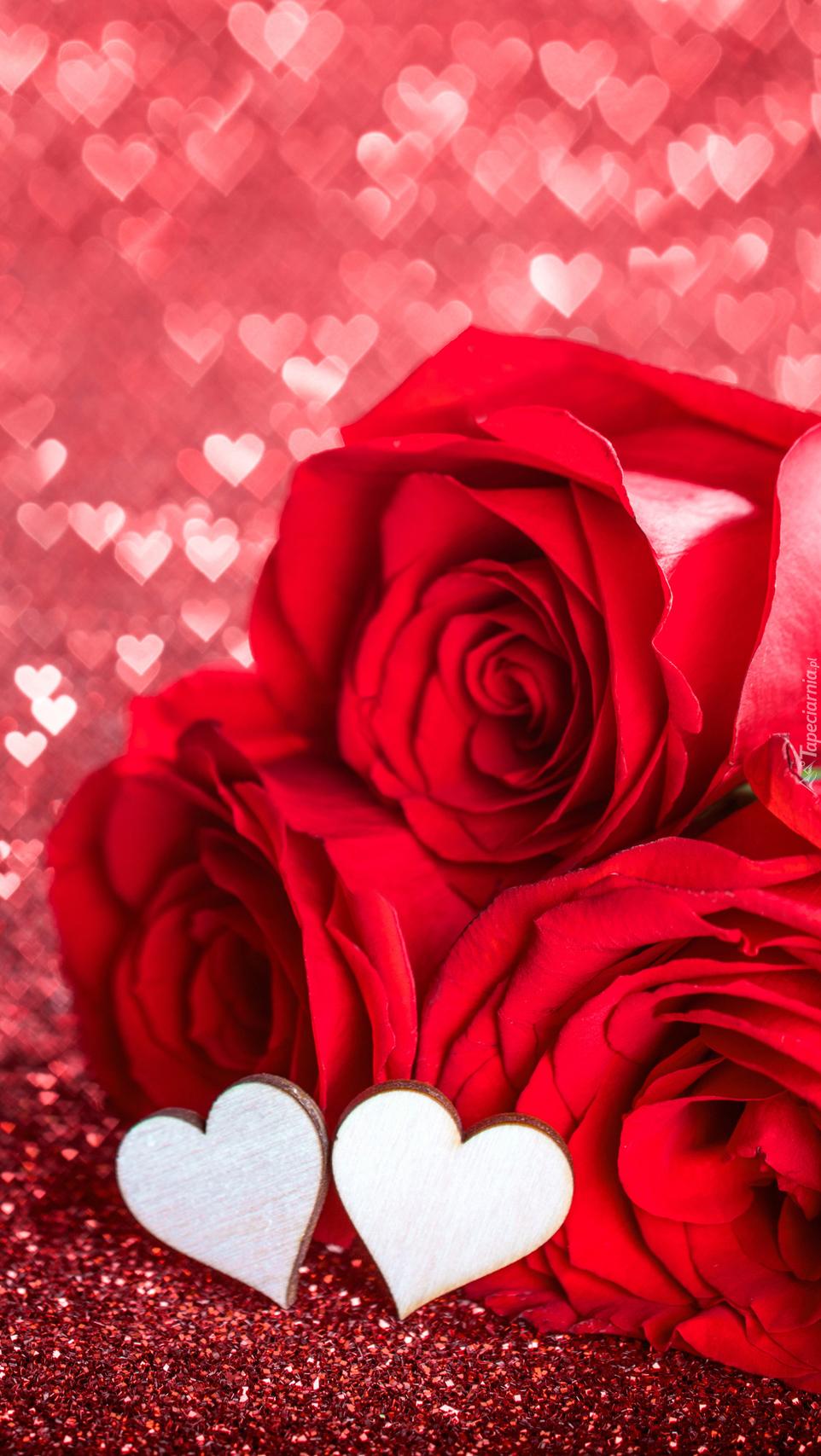 Serduszka i róże