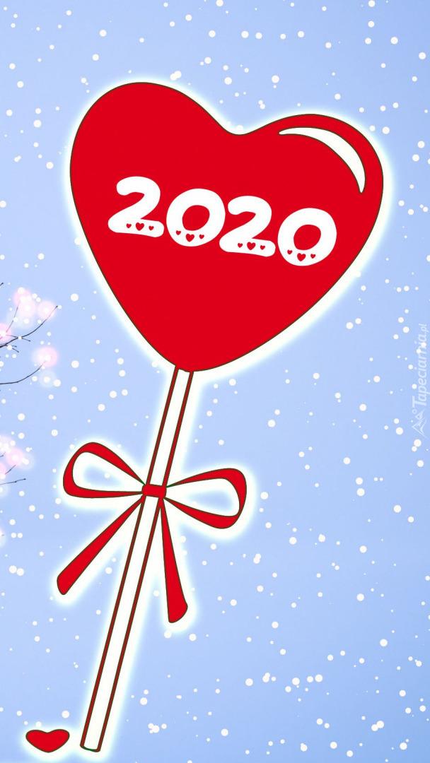 Serduszko z cyframi 2020