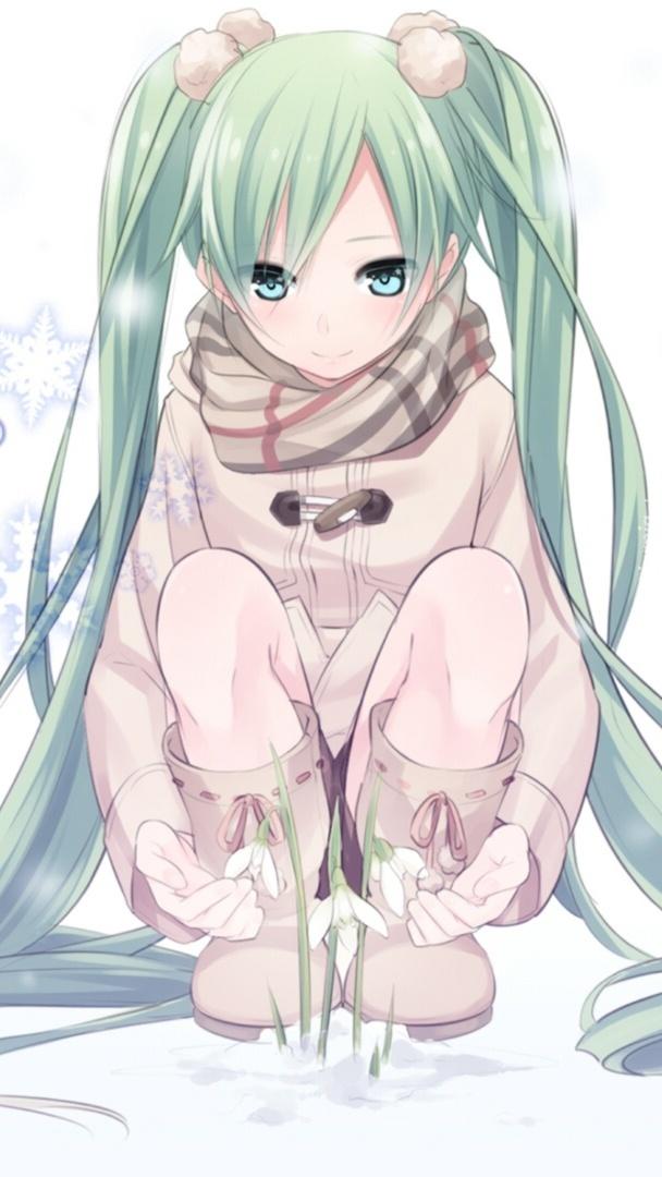 Siedząca Hatsune Miku