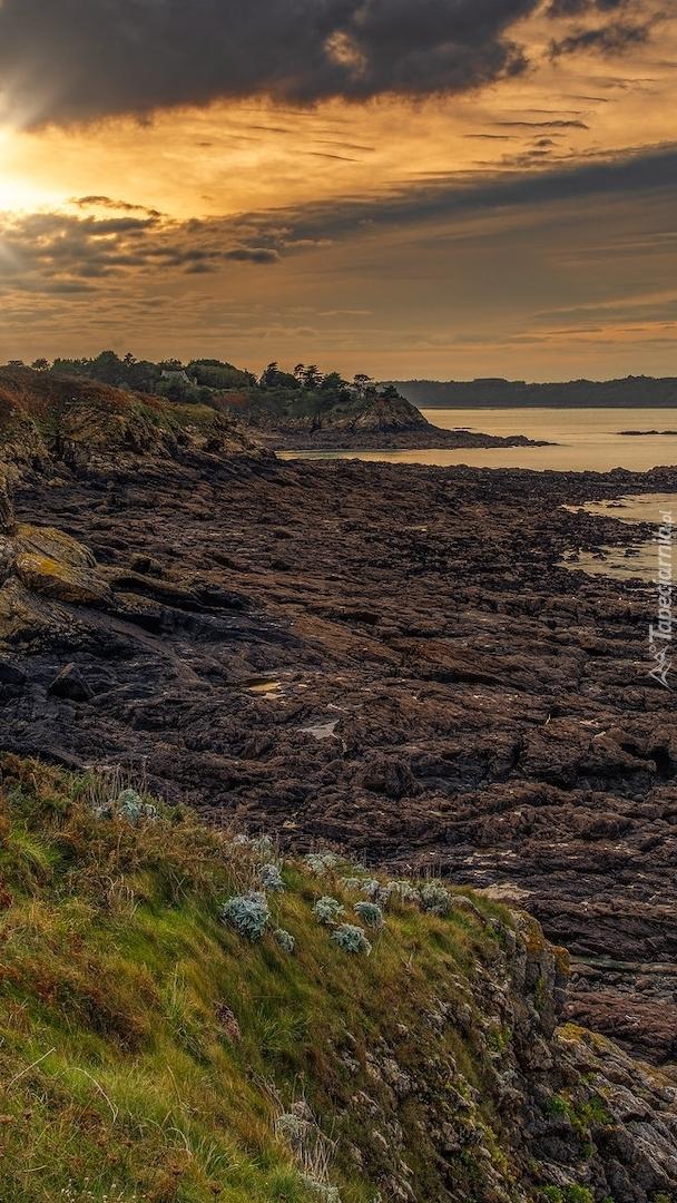 Skaliste wybrzeże Bretanii