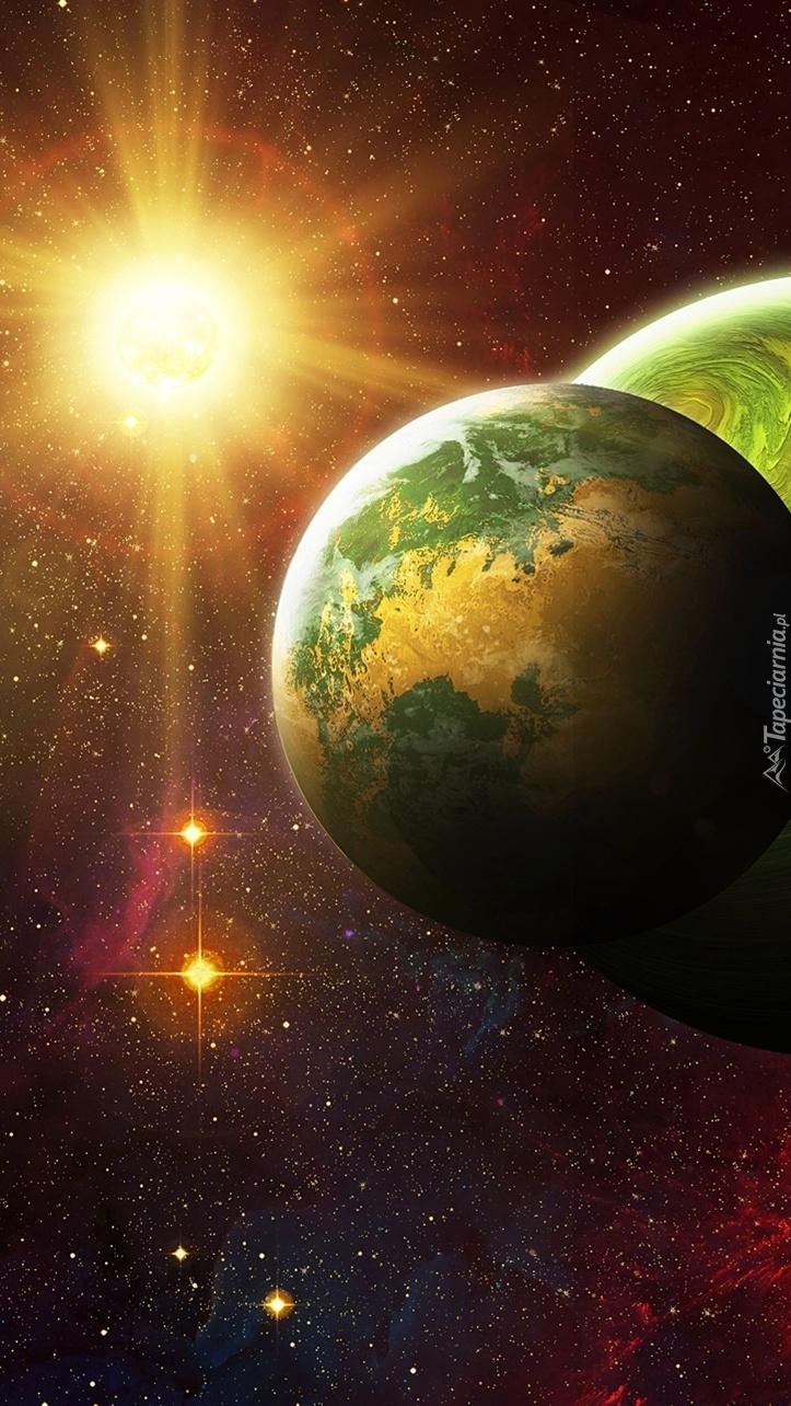 Słońce i planety w grafice 2D