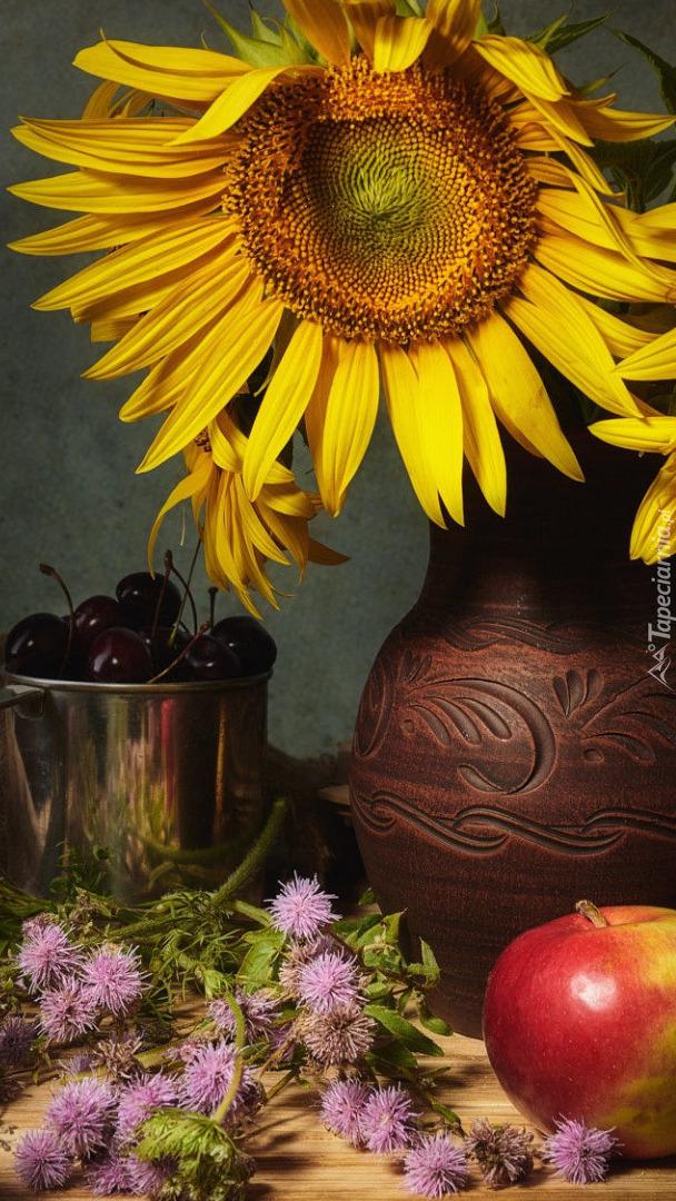 Słonecznik w wazonie