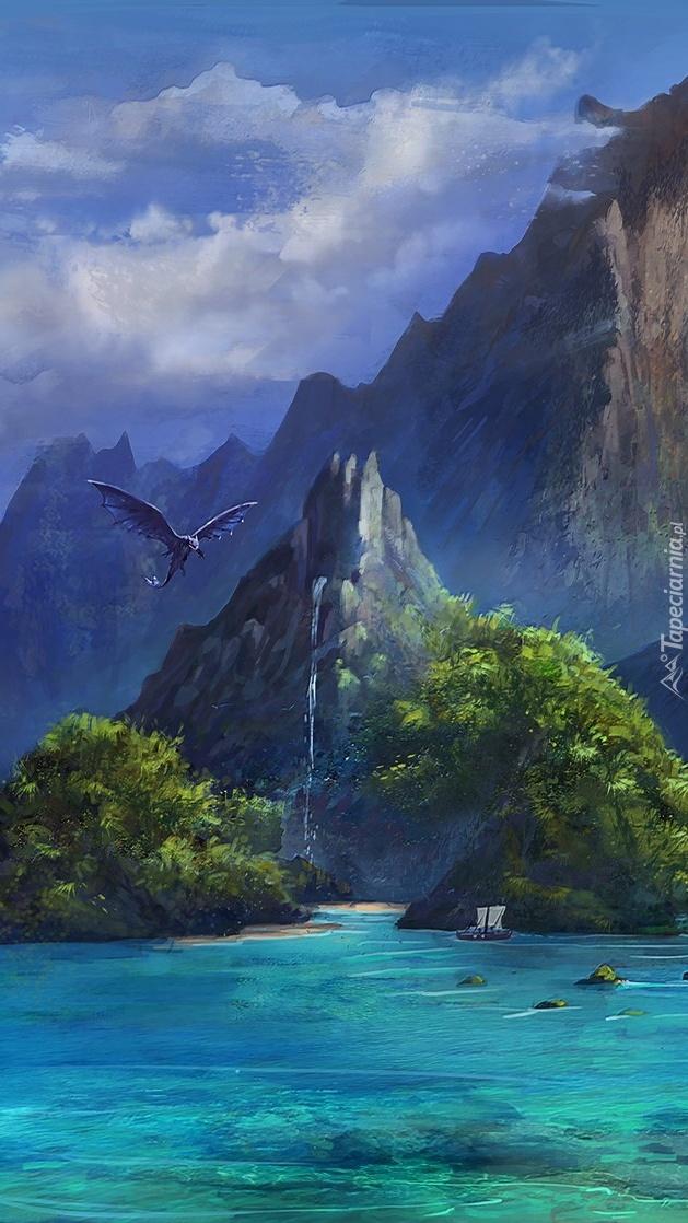 Smok nad morzem i górami