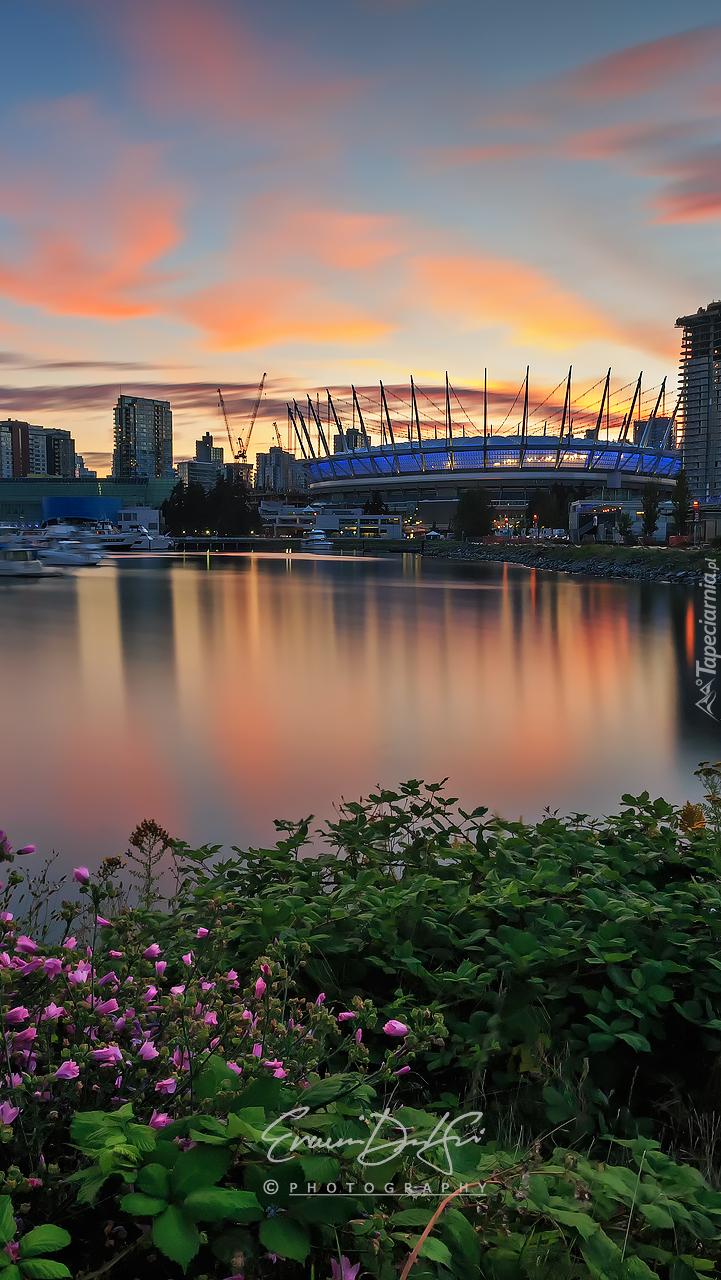 Stadion nad rzeką w Vancouver