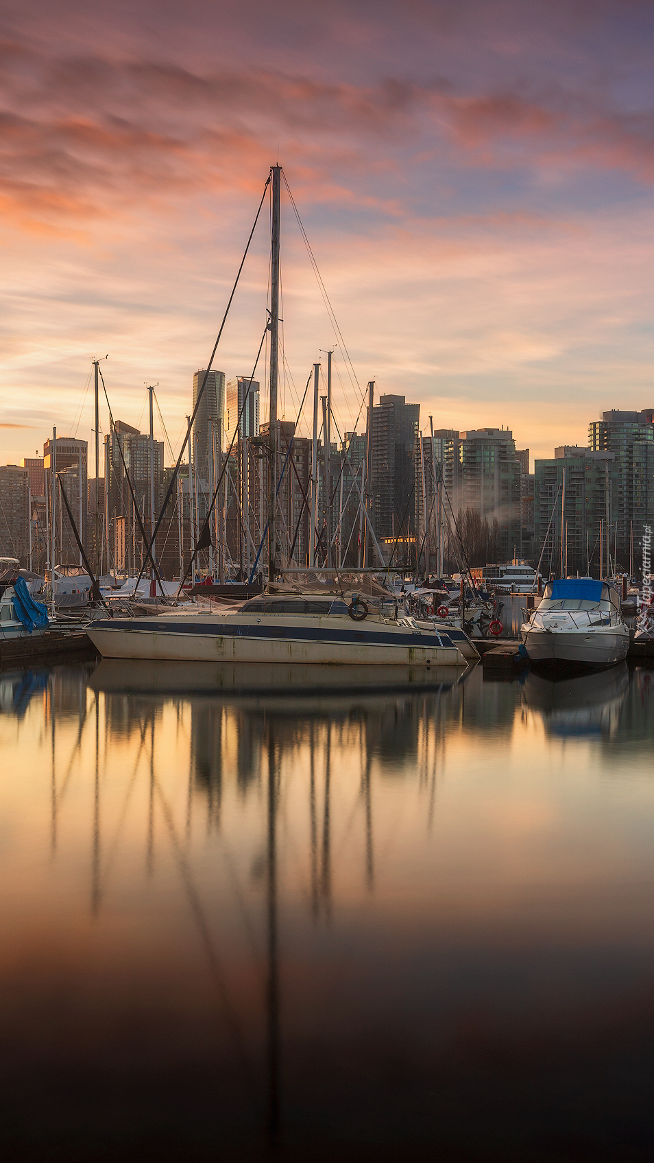Stanley Park Marina w Vancouver