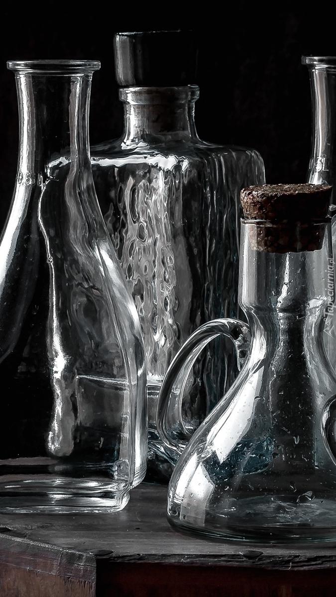 Stare szklane butelki