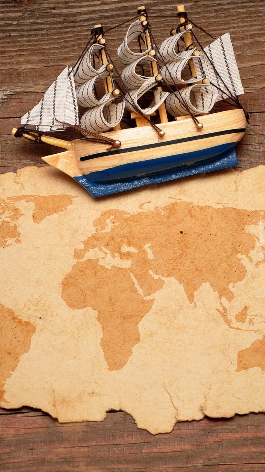 Statek na mapie