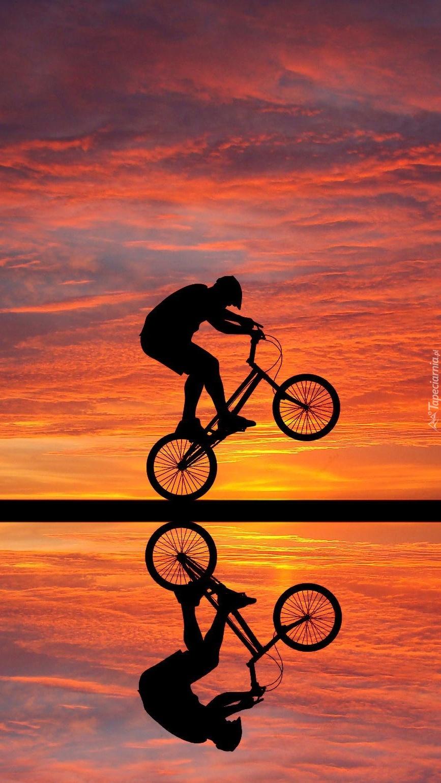 Stójka na rowerze