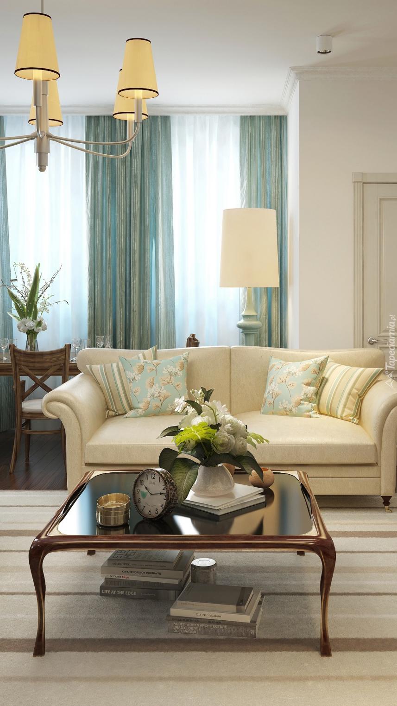 Stolik obok kanapy w pokoju
