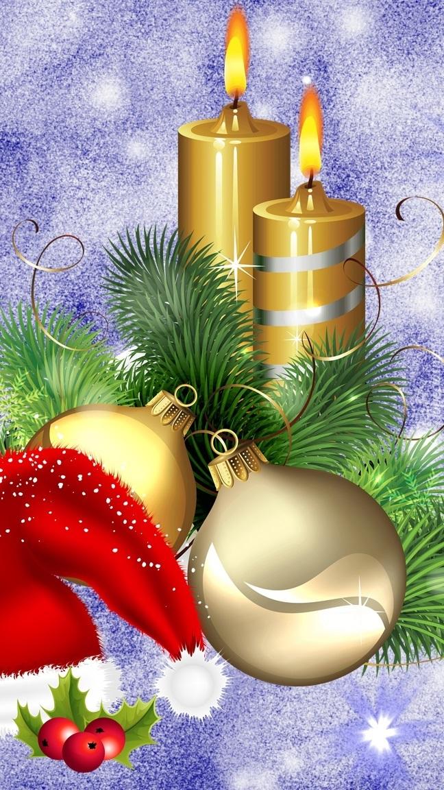 Stroik świąteczny z czapką Mikołaja
