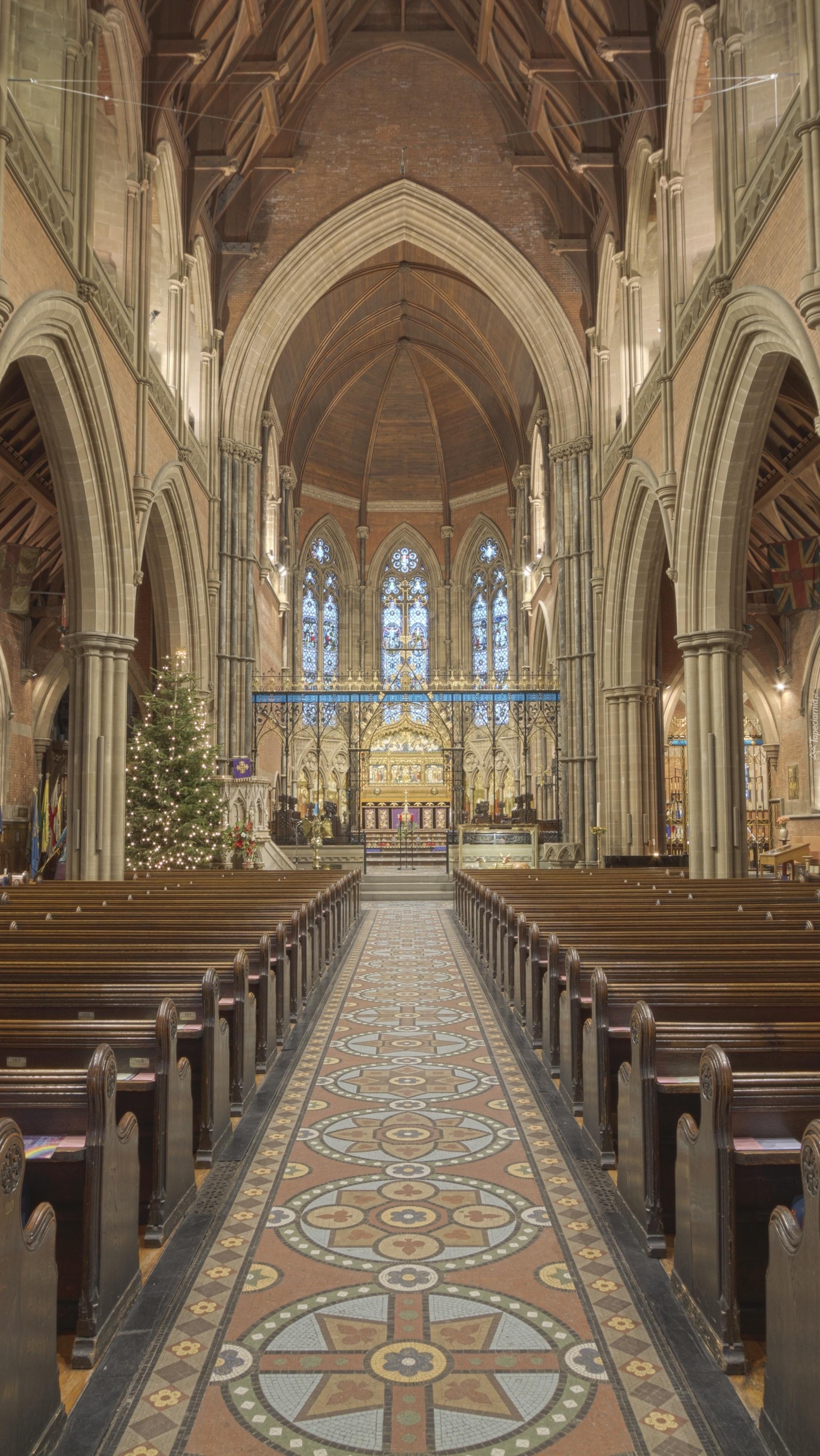 Świąteczny wystrój kościoła