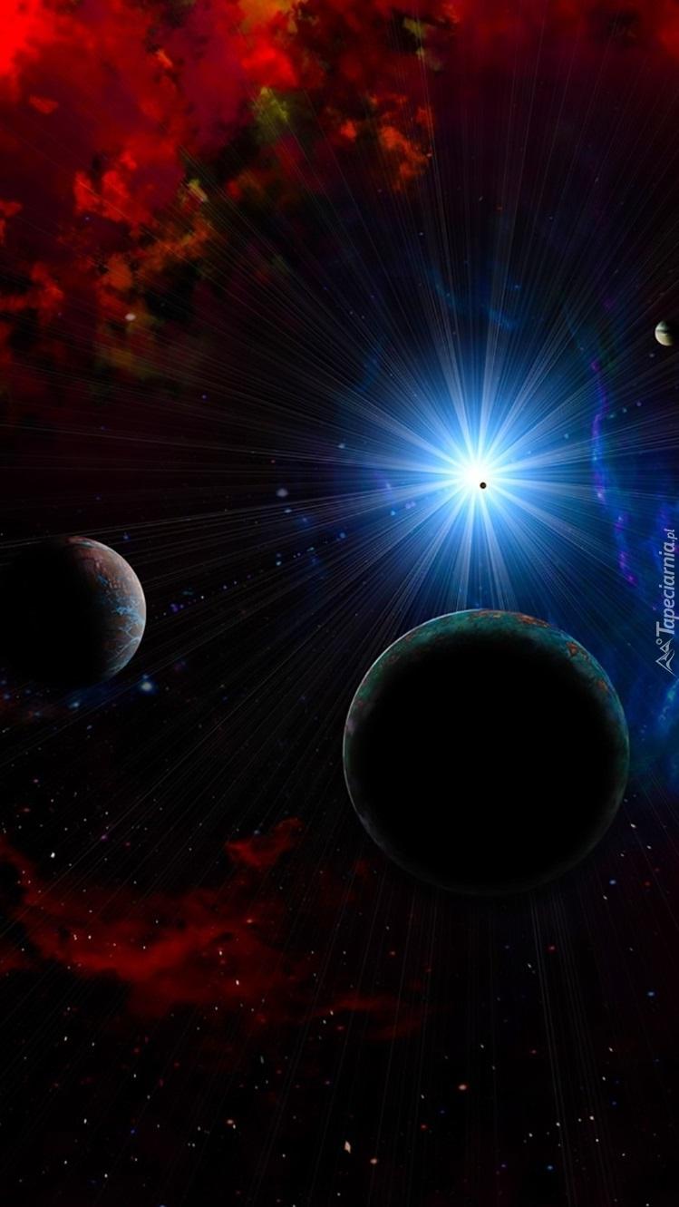 Świecąca planeta w kosmosie