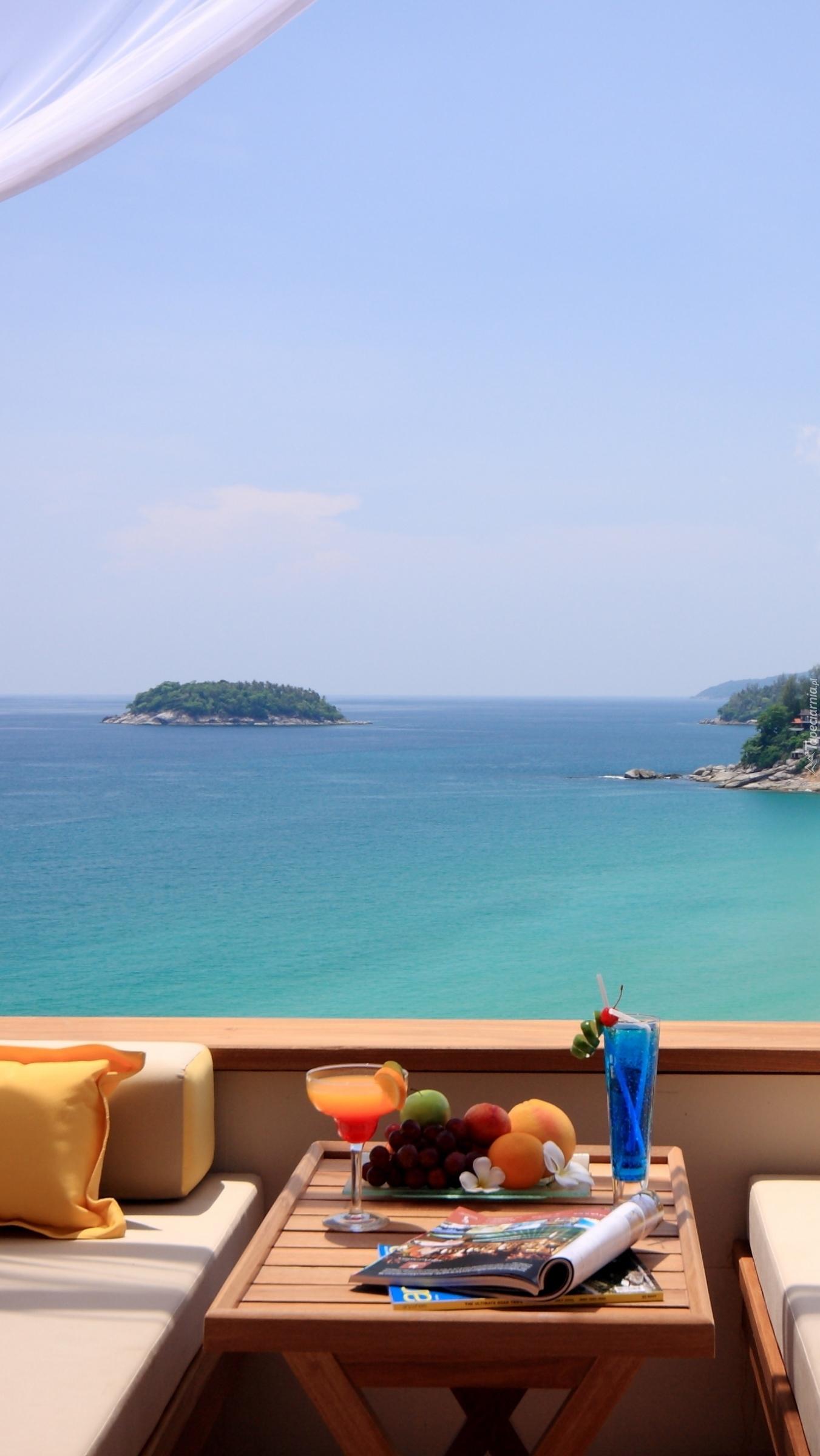 Taras z widokiem na morze