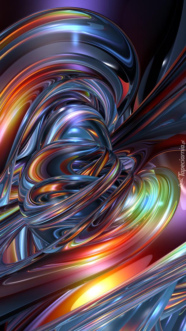 Tęczowa abstrakcja
