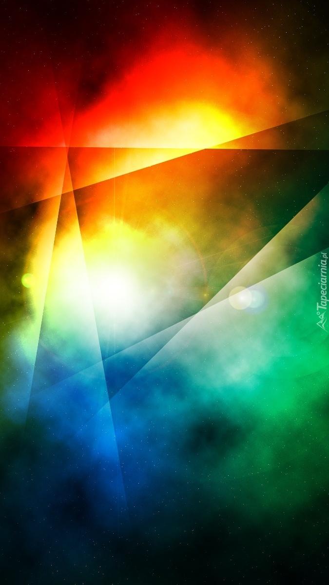 Tęczowe abstrakcyjne smugi świetlne