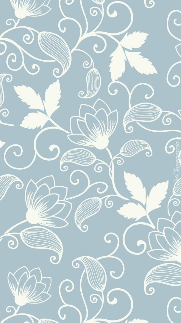 Tekstura w białe kwiaty