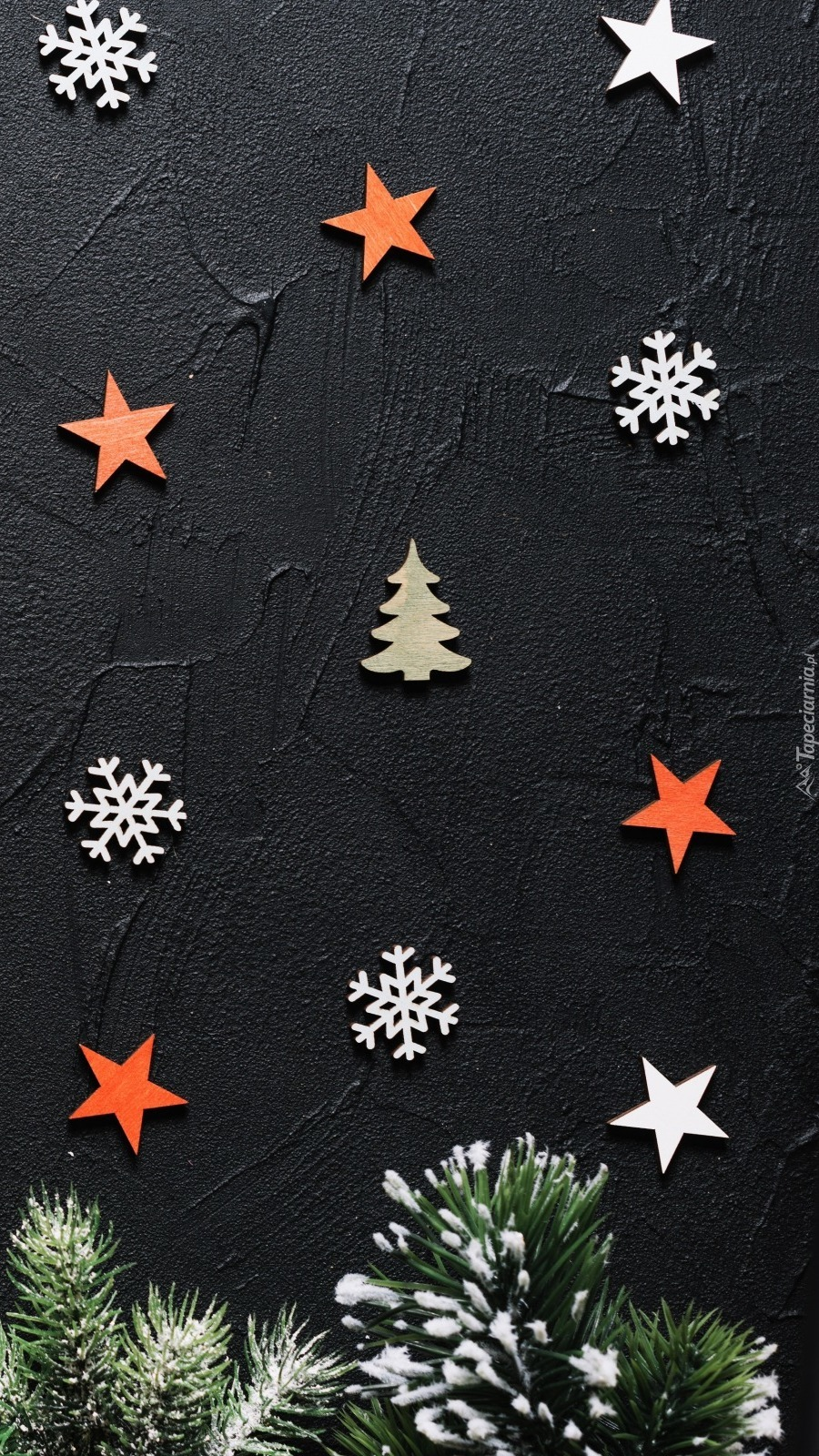 Tekstura w gwiazdki i śnieżynki