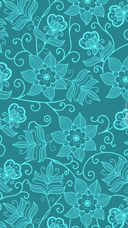 Tekstura w kwiatki
