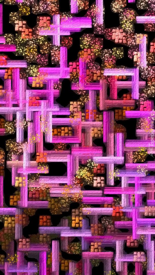 Tekstura w różowe wzory