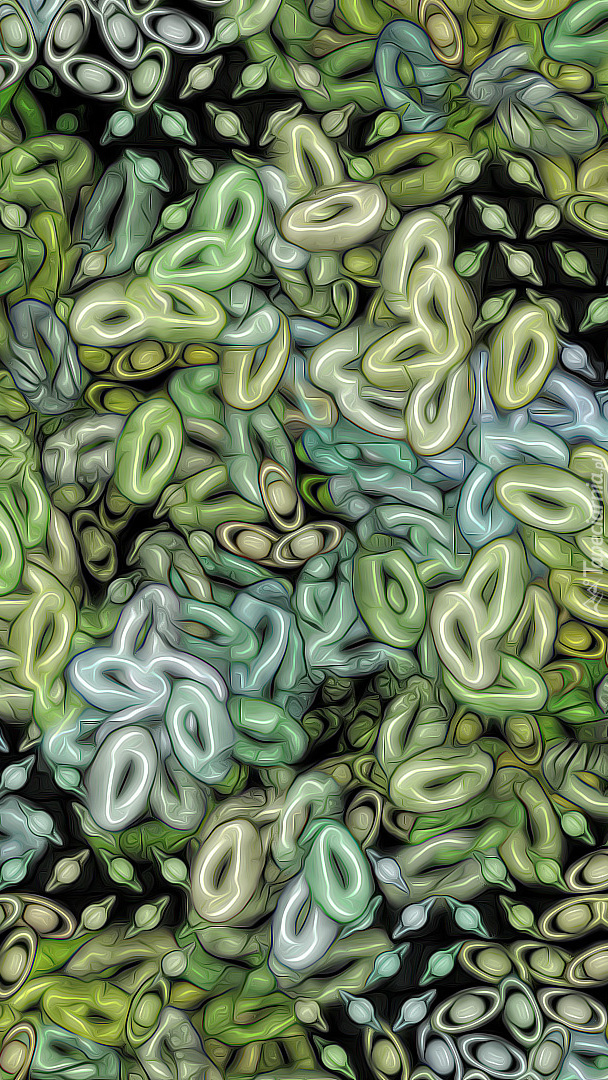 Tekstura w zielone wzory