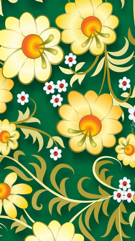 Tekstura w żółte kwiaty